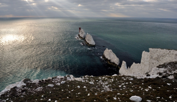 Looking out to the needles,